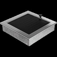 Решітка нікель з жалюзями 22x22