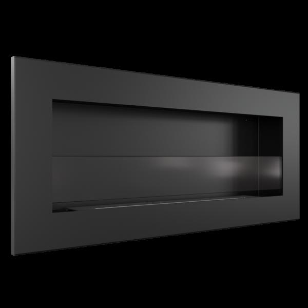 Біокамін Kratki DELTA 2 SLIM чорний зі склом