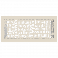 Решетка ABC кремовая 17x37