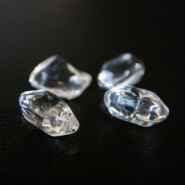 Декоративна галька FIRE GLASS - прозорий кристал