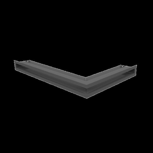 Решітка LUFT кутова ліва графітова 60x40x6