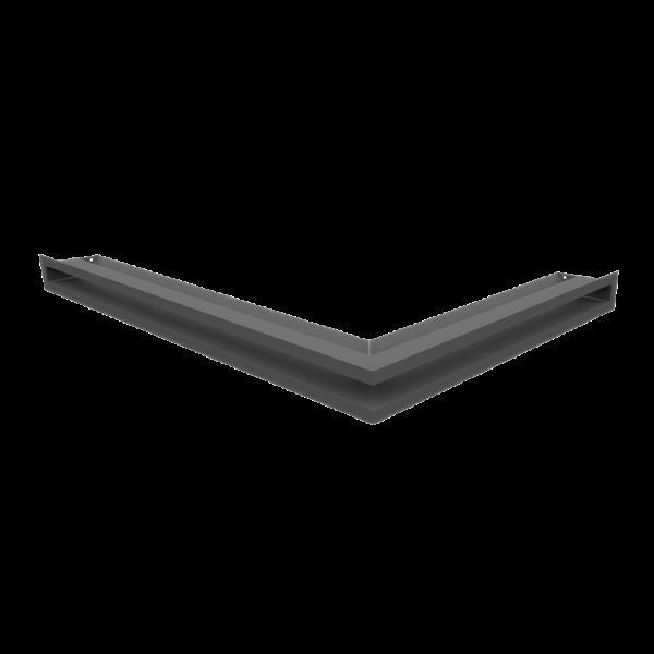 Решітка LUFT SF кутова ліва графітова 76,6x54,7x6