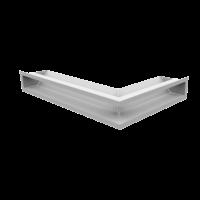 Решітка LUFT кутова ліва біла 60x40x9