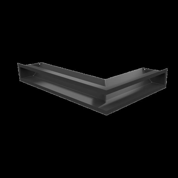 Решітка LUFT SF кутова ліва чорна 60x40x9