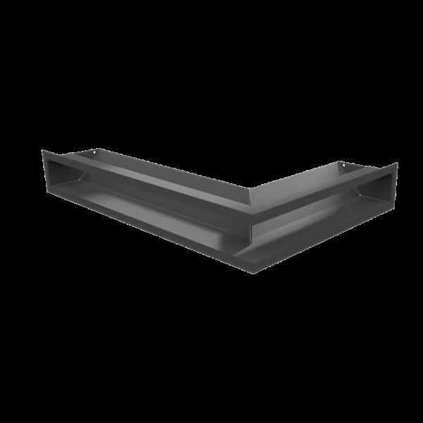 Решітка LUFT SF кутова ліва графітова 60x40x9