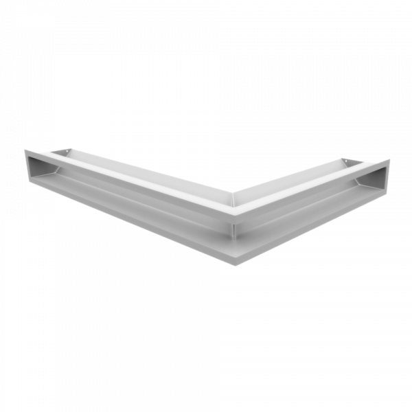 Решітка LUFT кутова ліва біла 76,6x54,7x9