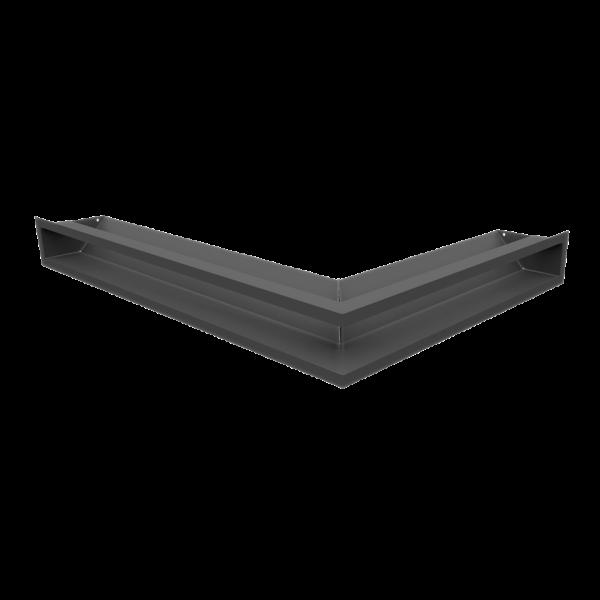 Решітка LUFT SF кутова ліва графітова 76,6x54,7x9