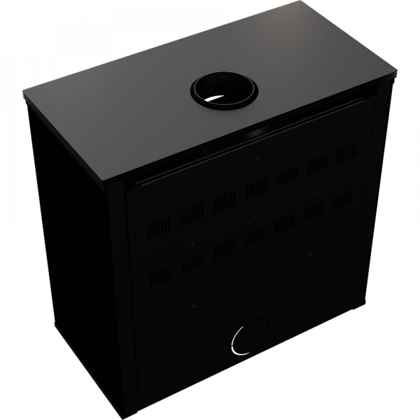 Сталева піч-камін Kratki JUNO 12 панель чорна (12,0 кВт)