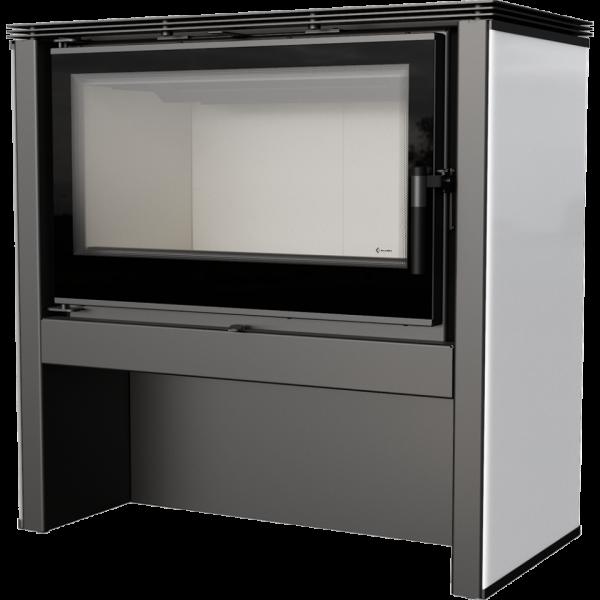 Стальная печь-камин Kratki JUNO 12 панель белая (12,0 кВт)