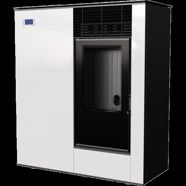 Пелетна піч Kratki VIKING 8 панель білий (8,0 кВт)