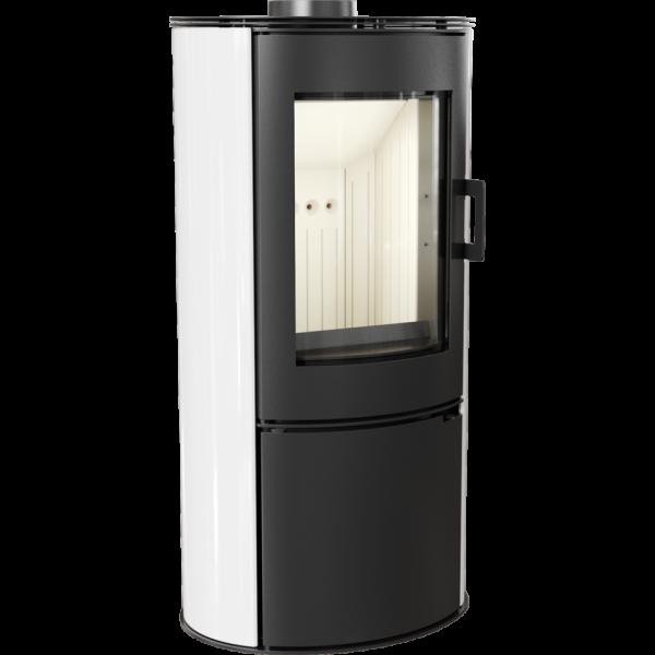 Кафельная печь-камин Kratki KOZA AB S/DR кафель белая (8,0 кВт)