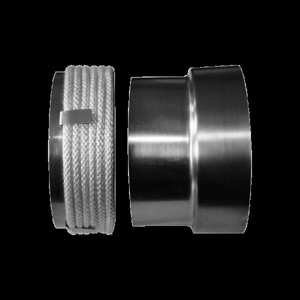 Перехідник з сталевої труби на кераміку Ø 150/200