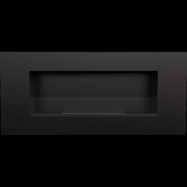 Биокамин Kratki DELTA 2 черный с стеклом и с сертификатом TUV