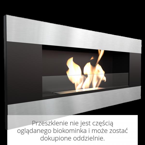 Биокамин Kratki DELTA 2 черный HORIZONTAL с сертификатом TUV