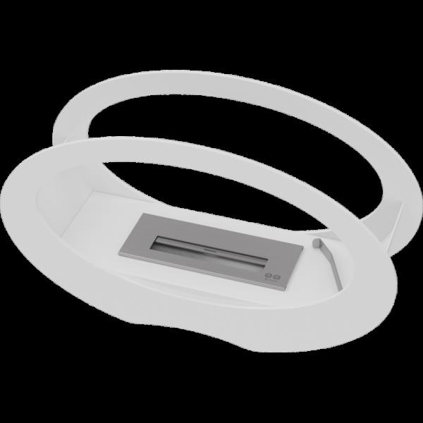 Біокамін Kratki ECHO білий з сертифікатом TUV