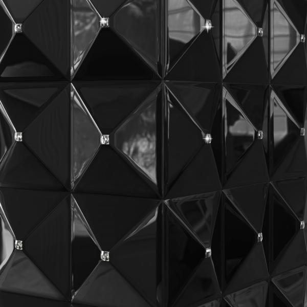 Биокамин Kratki EGZUL черный с кристаллами Swarovski глянцевый с сертификатом TUV