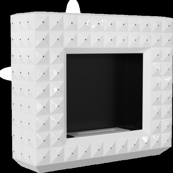 Биокамин Kratki EGZUL белый с кристаллами Swarovski глянцевый с сертификатом TUV