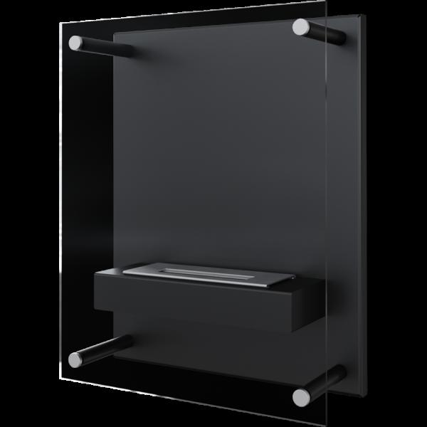 Біокамін Kratki GLASS чорний