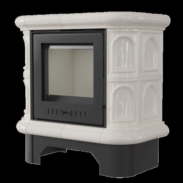 Кафельная печь-камин Kratki WK 440 кафель кремовая (6,5 кВт)