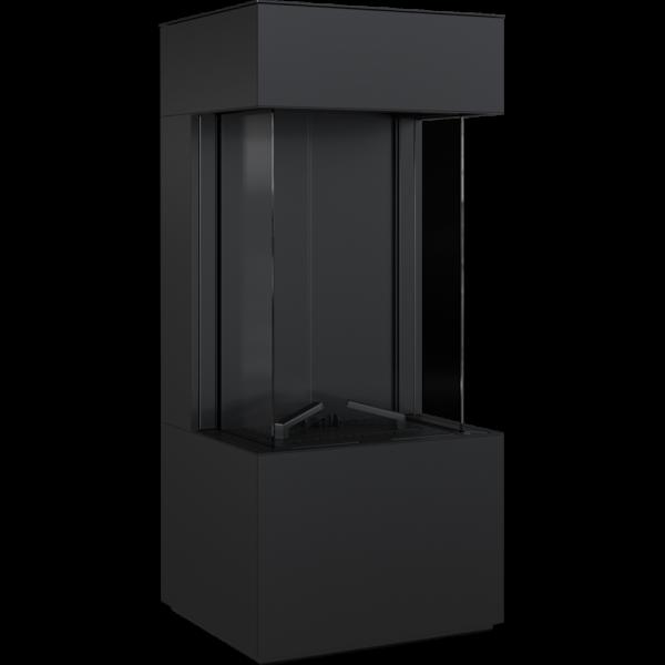 Камин Kratki LEO 45/68 левая / правая в корпусе HOME EASY BOX стальной - черный NG
