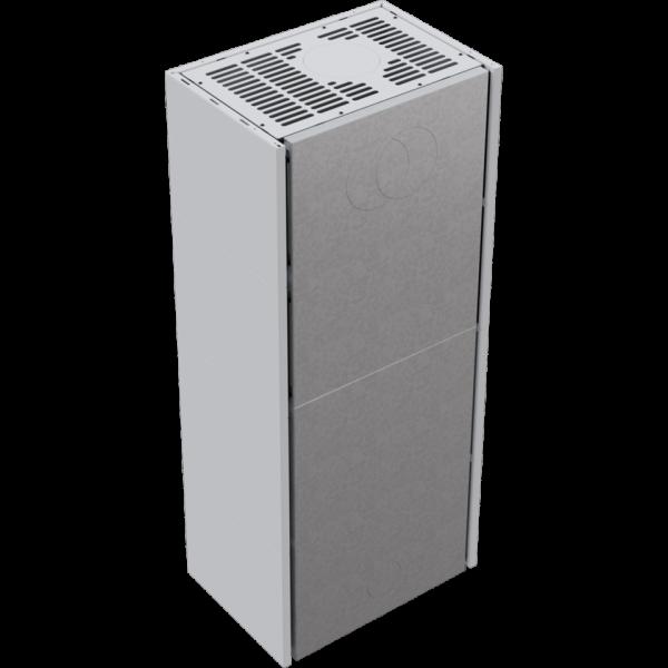 Каминная топка Kratki SIMPLE 12 BS левая в корпусе BOX стальной - белый (12,0 кВт)