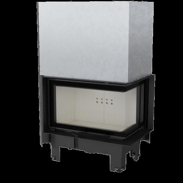 Каминная топка Kratki MBM 10 правая BS гильотина гнутое стекло (10,0 кВт)