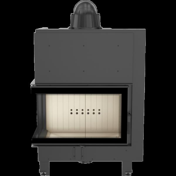 Каминная топка Kratki MBO 15 левая BS гнутое стекло (15,0 кВт)