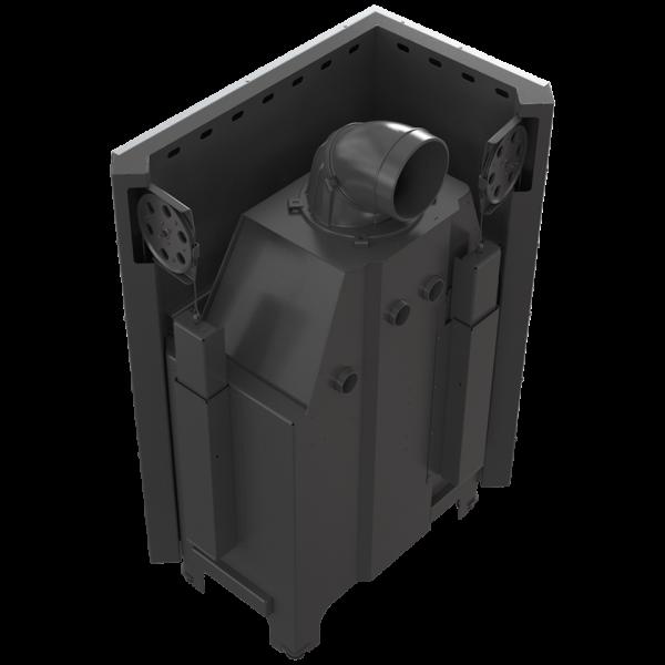 Камінна топка Kratki MBO 15 ліва BS гільйотина гнуте скло (15,0 кВт)