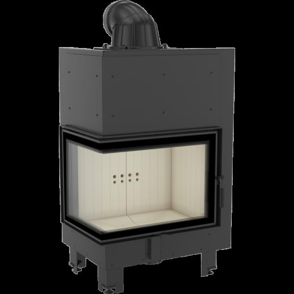 Каминная топка Kratki MBZ 13 левая BS гнутое стекло (13,0 кВт)