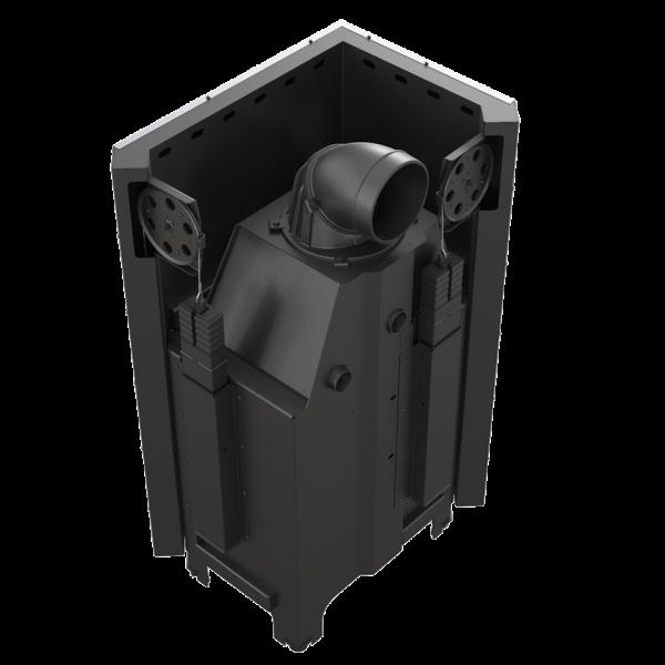 Камінна топка Kratki MBZ 13 ліва BS гільйотина гнуте скло (13,0 кВт)