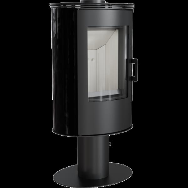 Сталева піч-камін Kratki KOZA AB S/N/DR кахель чорна (8,0 кВт)