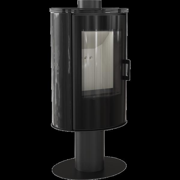 Кахельна піч-камін Kratki KOZA AB S/N/O/DR GLASS кахель чорна (8,0 кВт)