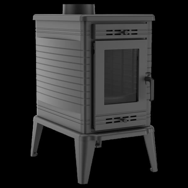 Чугунная печь-камин Kratki KOZA K10 Ø 130 (10,0 кВт)