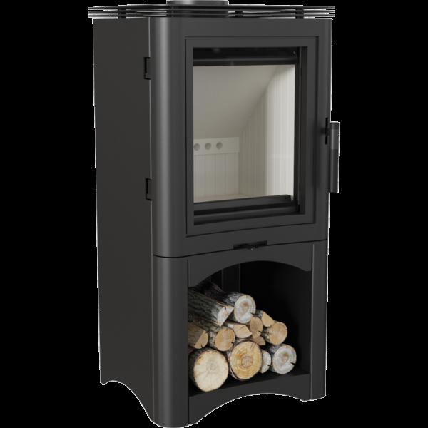 Сталева піч-камін Kratki KOZA K5 S з нішею для дров (7,0 кВт)