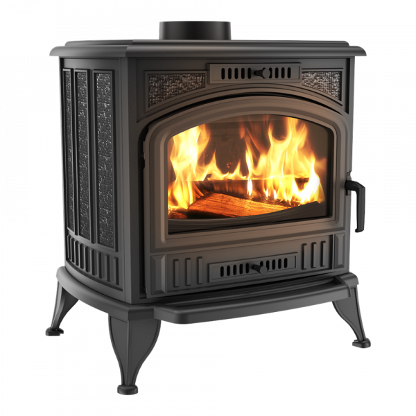Чугунная печь-камин Kratki KOZA K6 Ø 150 ASDP (8,0 кВт)