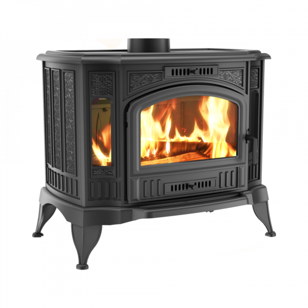 Чугунная печь-камин Kratki KOZA K9 Ø 150 TURBOFAN (10,0 кВт)