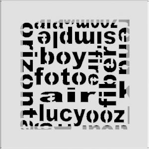 Решітка ABC біла 17x17