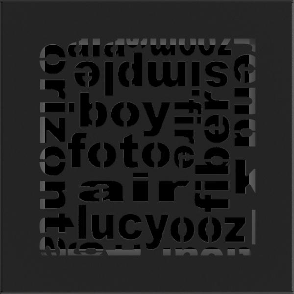 Решітка ABC чорна 17x17