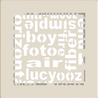 Решетка ABC кремовая 17x17