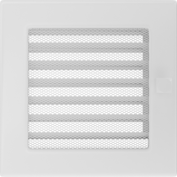 Решітка біла з жалюзями 17x17