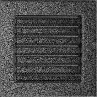 Решітка чорно-срібна з жалюзями 17x17