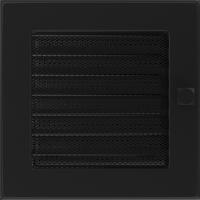 Решітка чорна з жалюзями 17x17