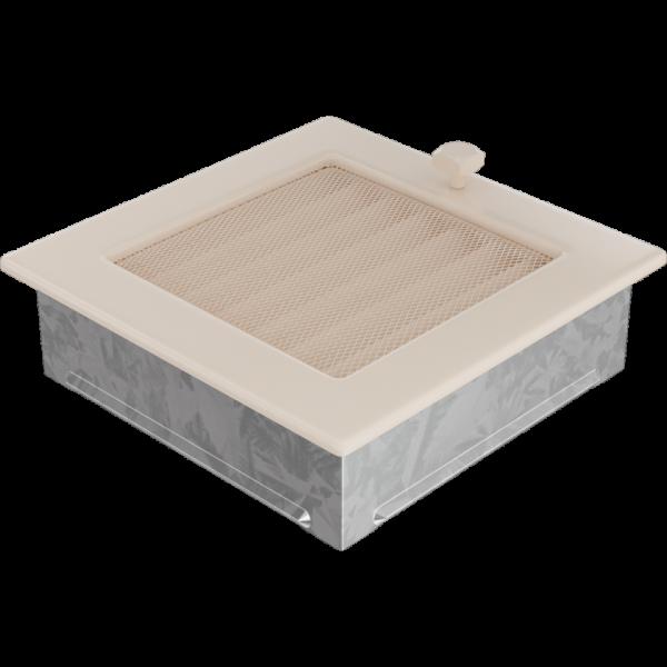 Решітка кремова з жалюзями 17x17