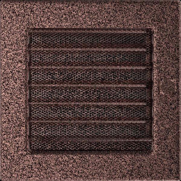 Решітка мідна з жалюзями 17x17