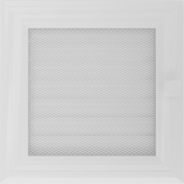 Решітка Oskar біла з жалюзями 17x17