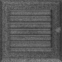 Решітка Oskar чорно-срібна з жалюзями 17x17