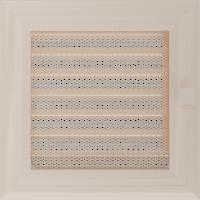 Решітка Oskar кремова з жалюзями 17x17