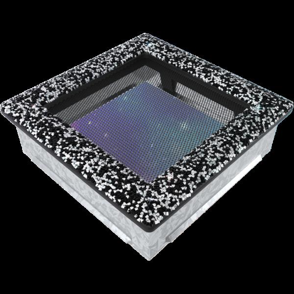 Решітка Venus з кристалами Swarovski чорно-срібна 17x17