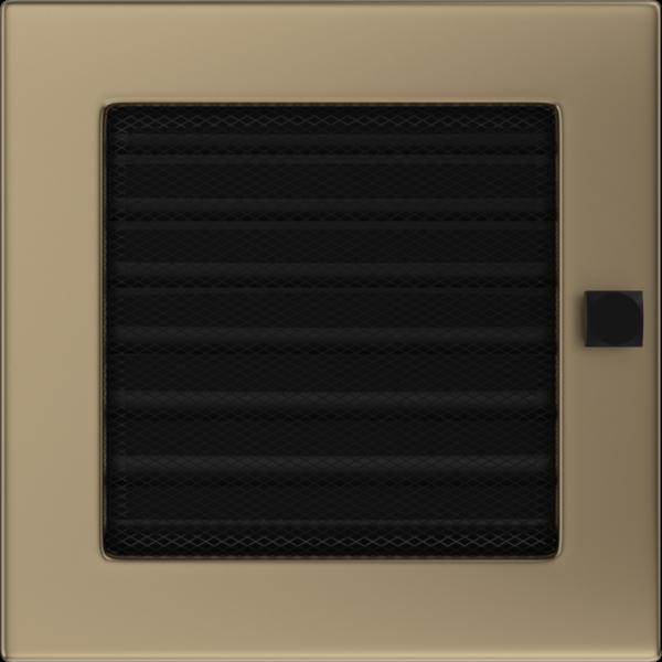 Решітка золото гальванічне з жалюзями 17x17