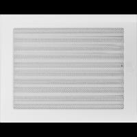 Решітка біла з жалюзями 22x30